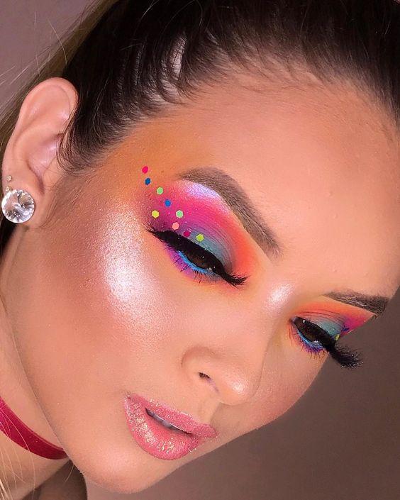 moda carnaval maquiagem