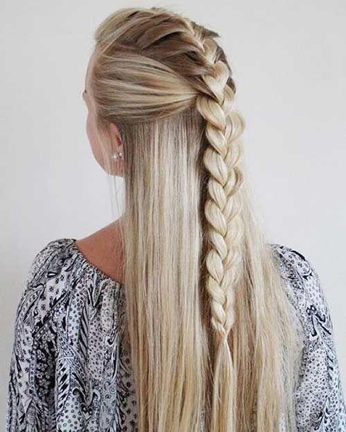 penteado com trança cabelo longo e liso