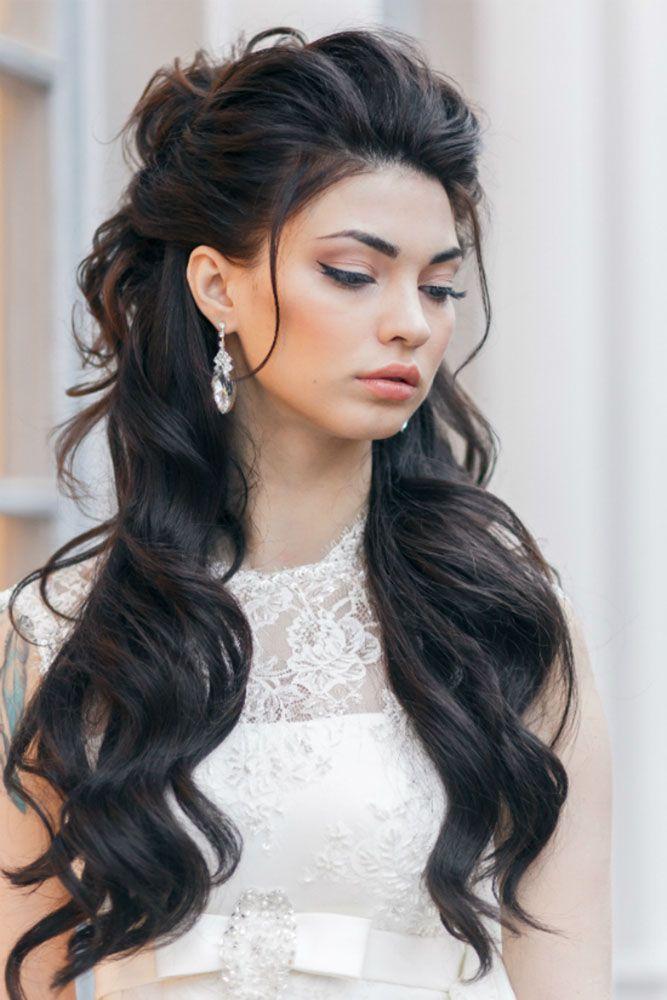 penteado para cabelo longo e ondulado
