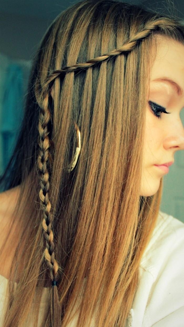 penteado simples com trança