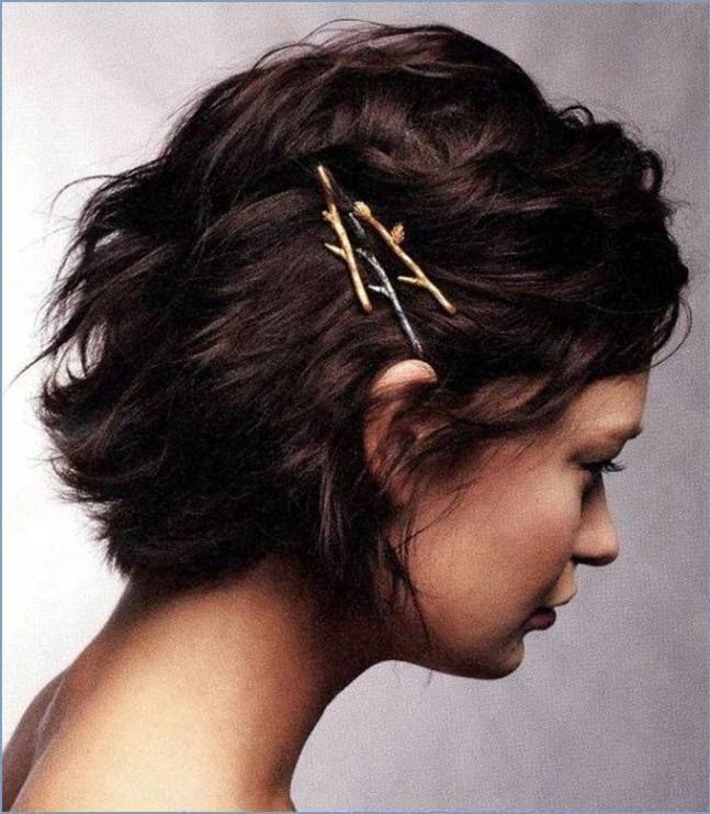 penteado simples em cabelo curto