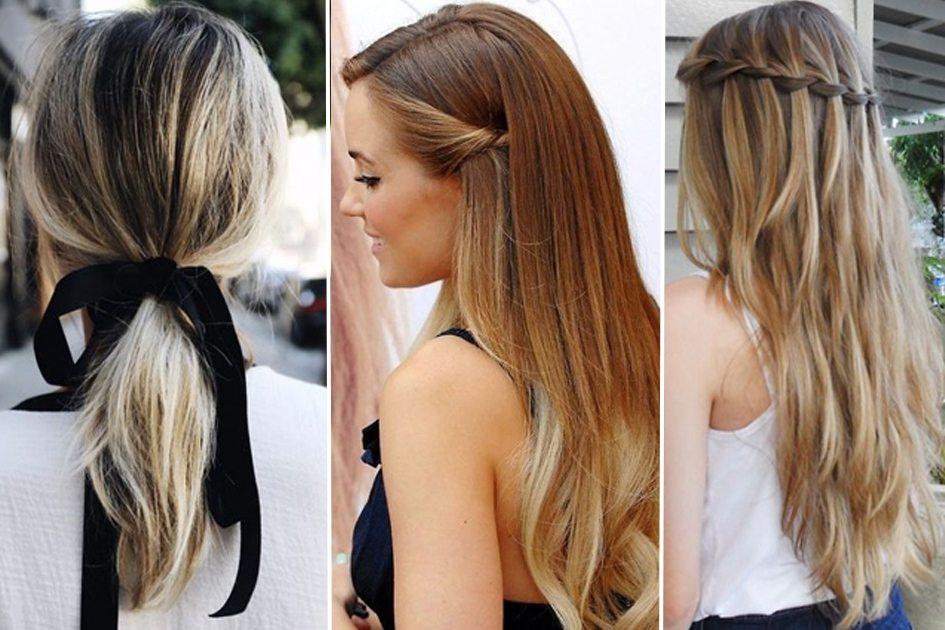 penteados simples para cabelo liso e longo