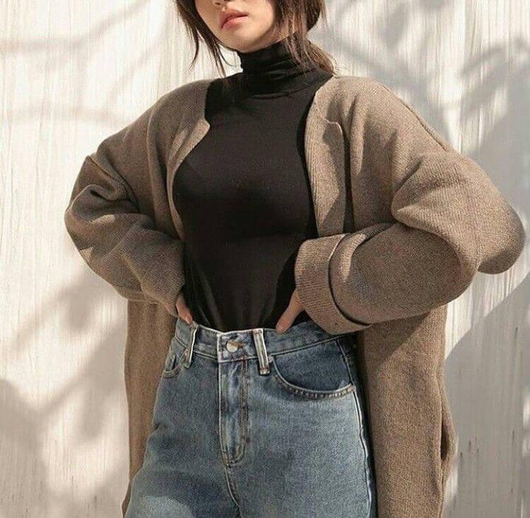 roupas largas para moda inverno