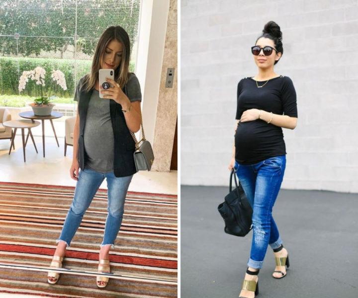 roupas simples para grávidas