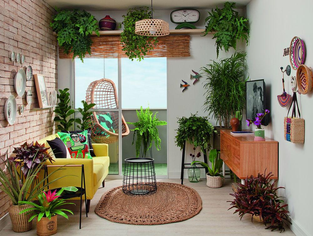 sala pequena sustentável