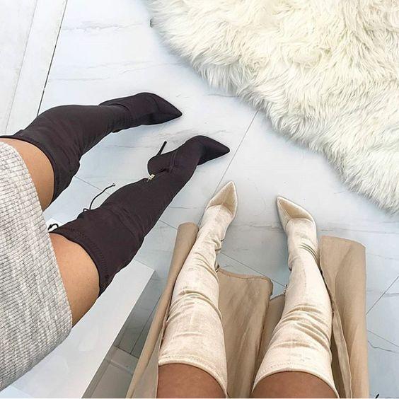 Sapato de salto inverno
