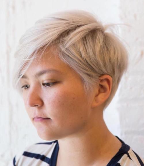 side cut rosto redondo feminino 2021