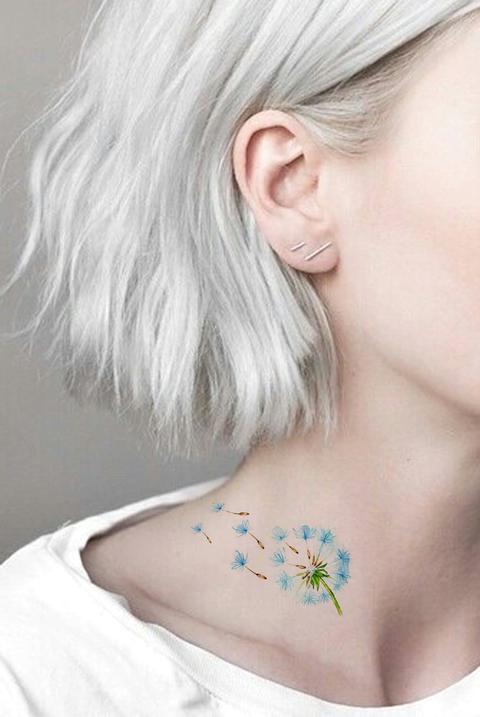 tatuagem delicada no pescoço 2021