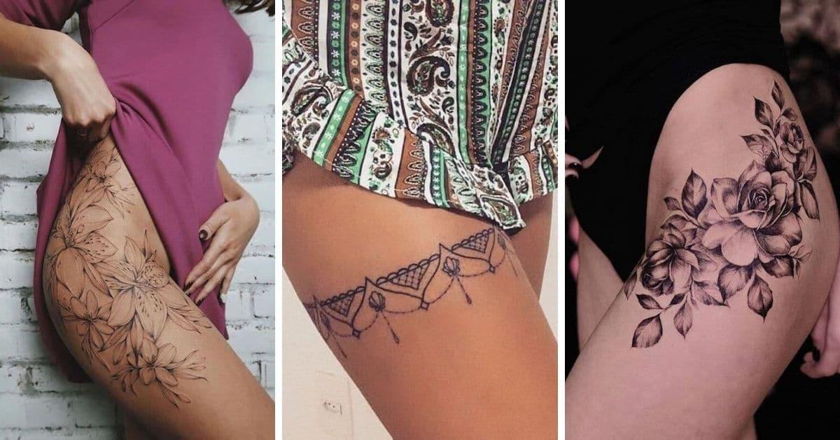 tatuagem feminina na coxa 2021