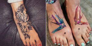 tatuagem feminina no pé 2021
