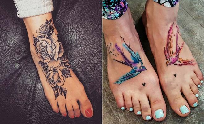 tatuagem feminina nos pés 2021