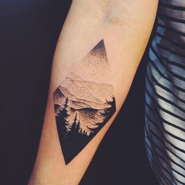 Tatuagens masculinas de paisagens