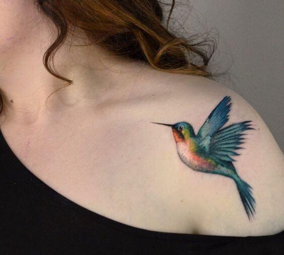 tatuagem no ombro de pássaros 2021