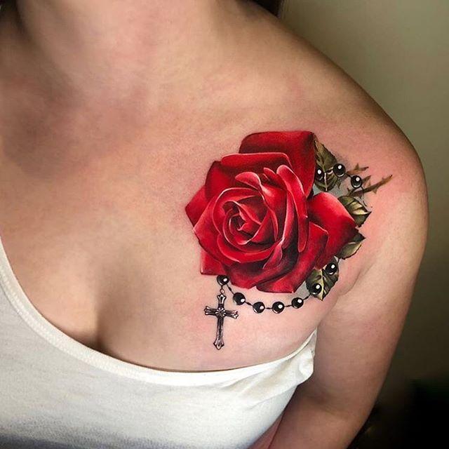 tatuagem no ombro de terço 2021
