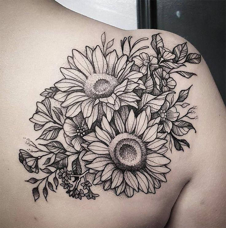 tatuagem no ombro girassol 2021