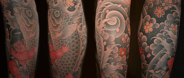 Tatuagem oriental masculina
