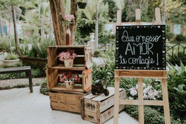 tendências de plaquinhas de casamento