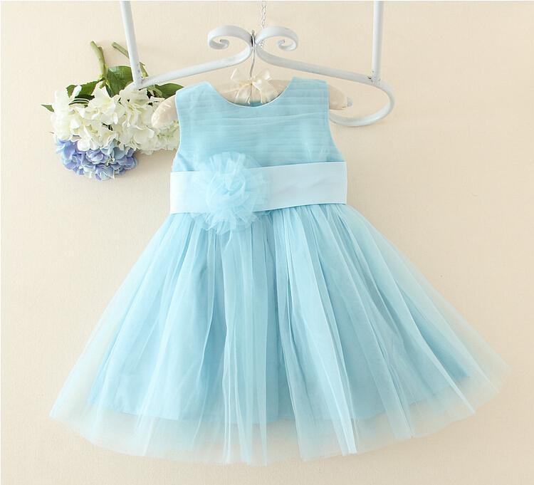 vestido azul de batizado
