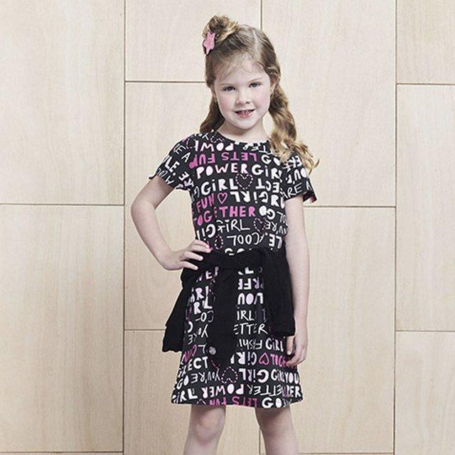vestido infantil estampado 2021