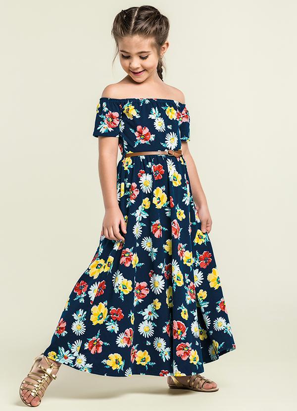 vestido infantil longo 2021