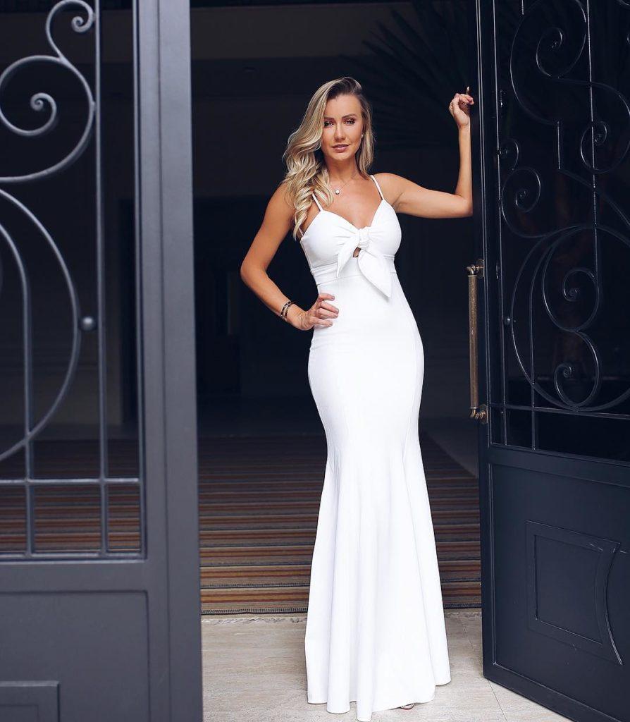 Vestido de casamento branco longo