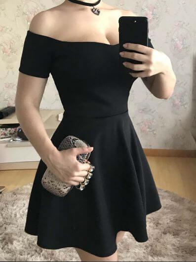 Vestido preto para tendências 2021