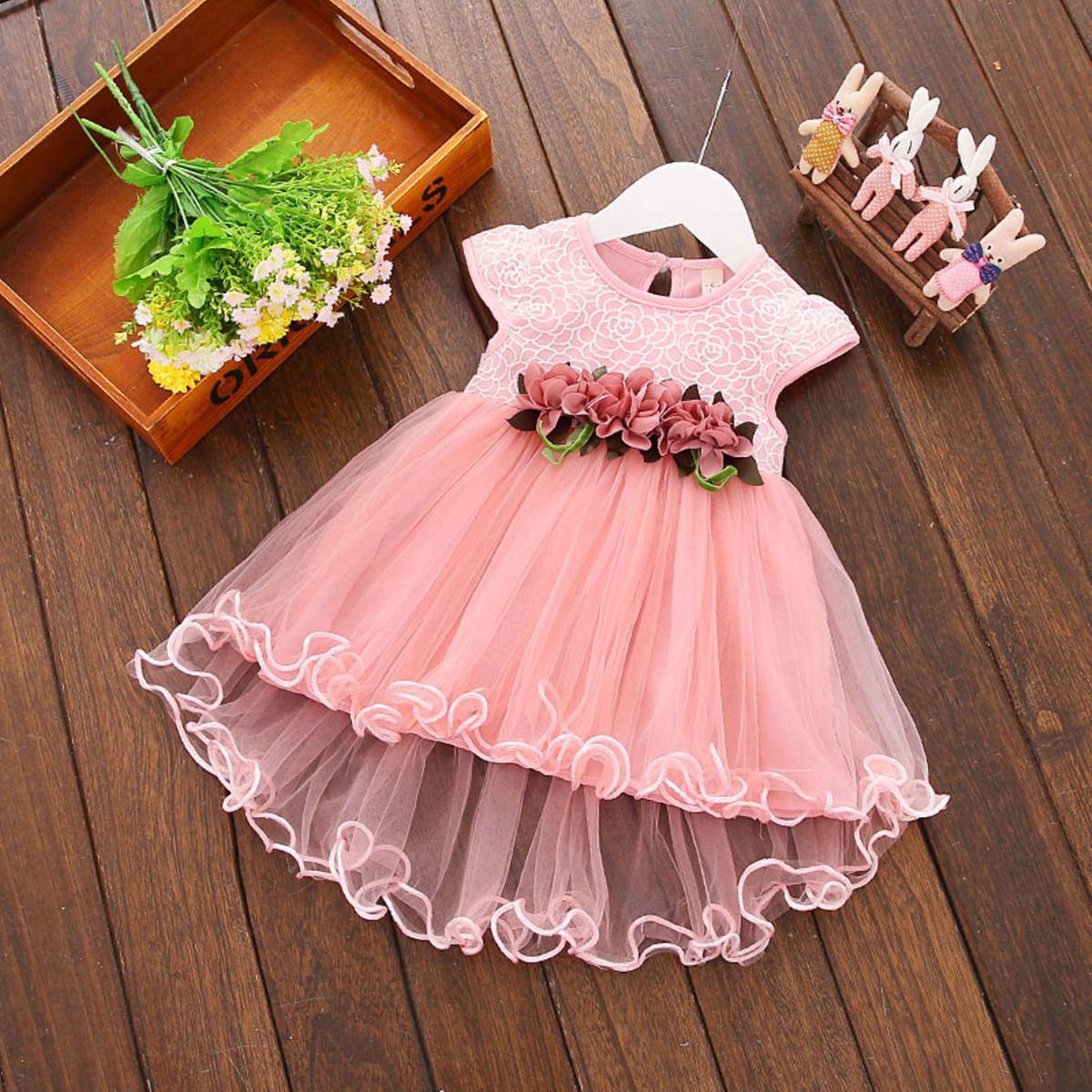 vestido rosa de batizado