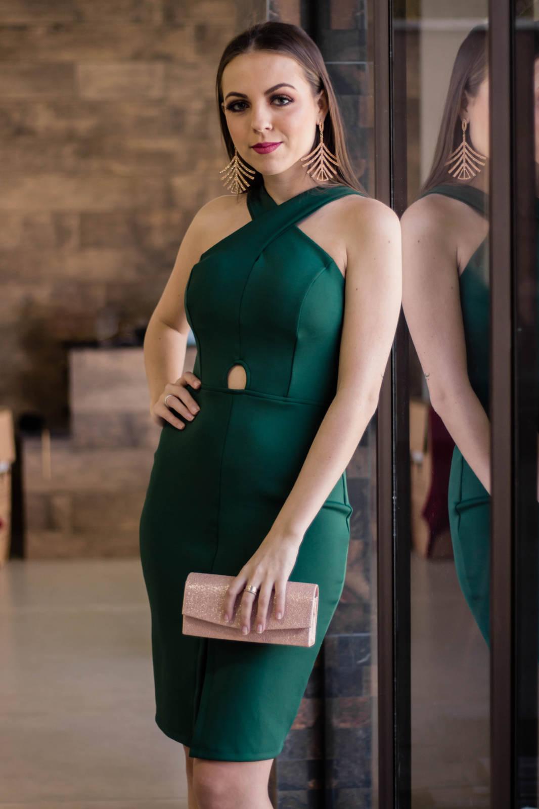 vestido tubinho verde 2021