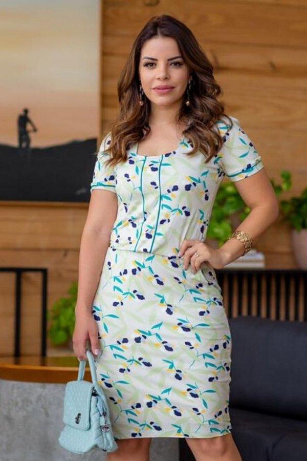 vestido tubinho estampado 2021