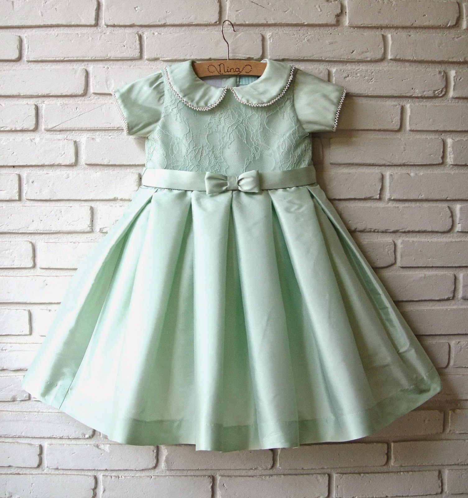 vestido verde de batizado