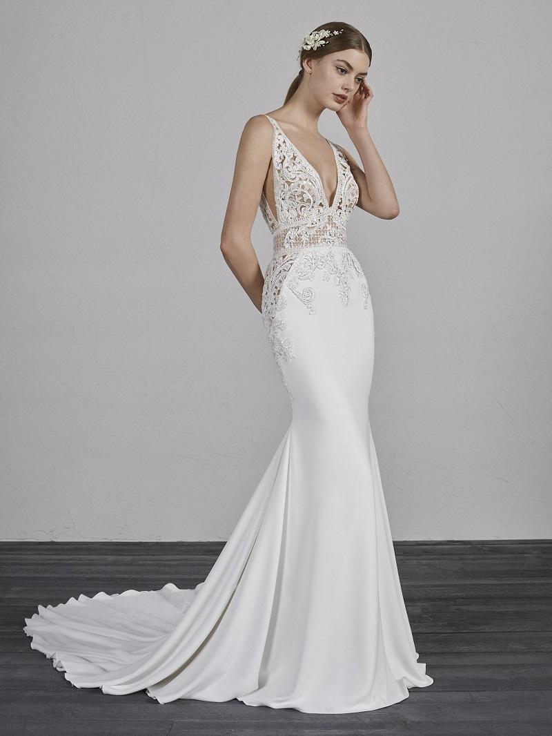 vestidos de noiva decote v