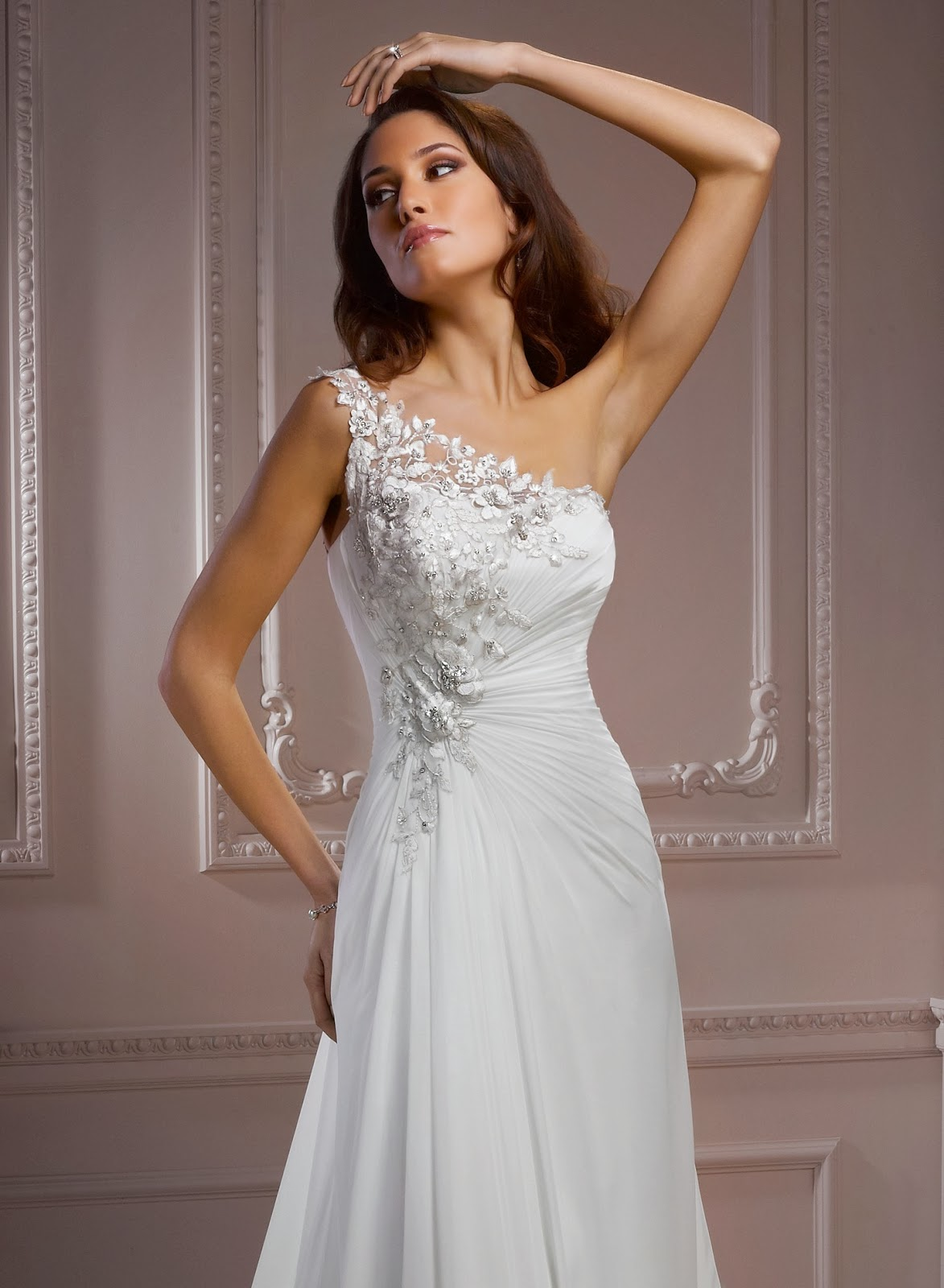 vestidos de noiva um ombro só
