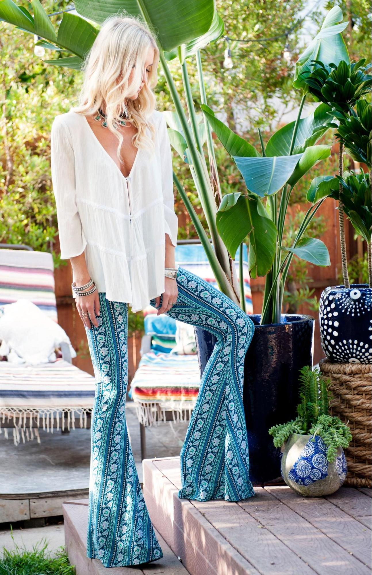 visual hippie para moda primavera