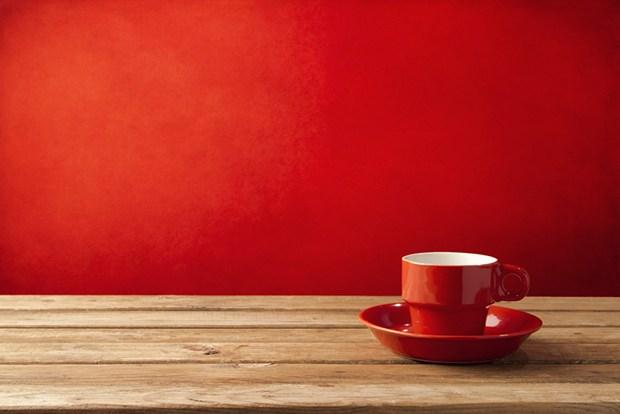 xícara vermelha