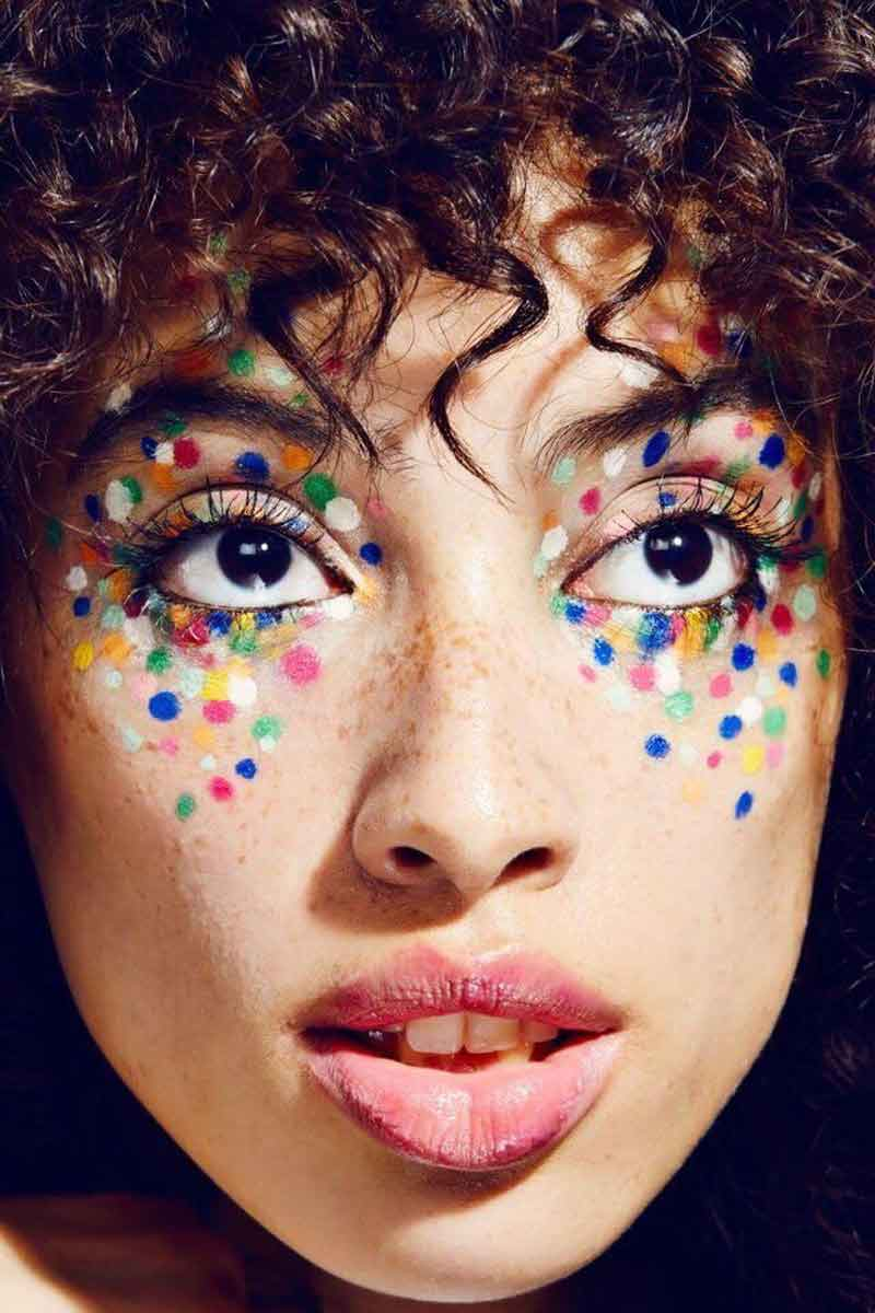 ideia de maquiagem para festa junina