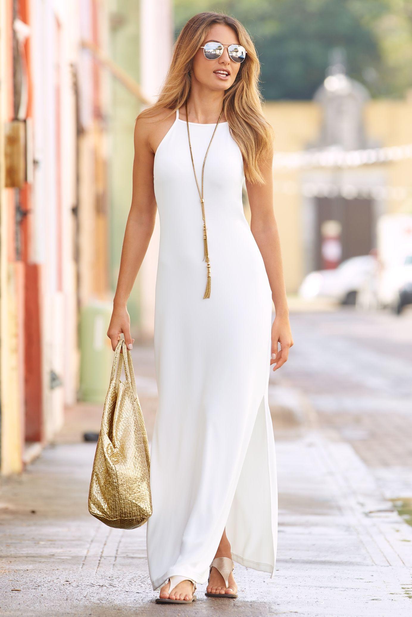 Vestido branco longo