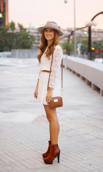 Vestido branco meia estação