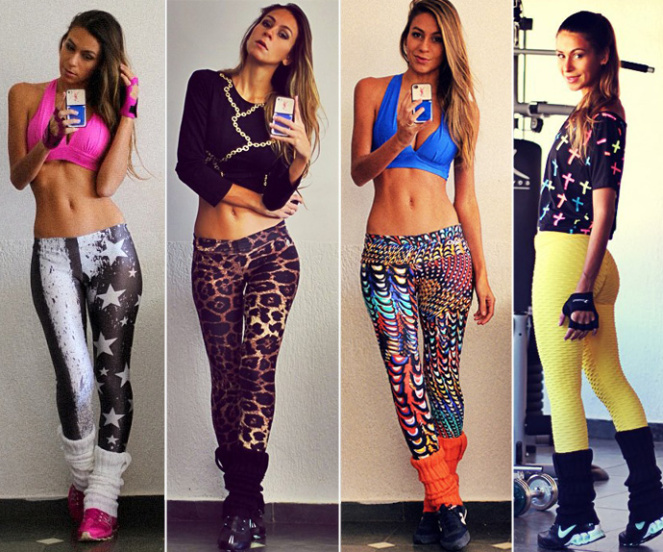 leggings coloridas