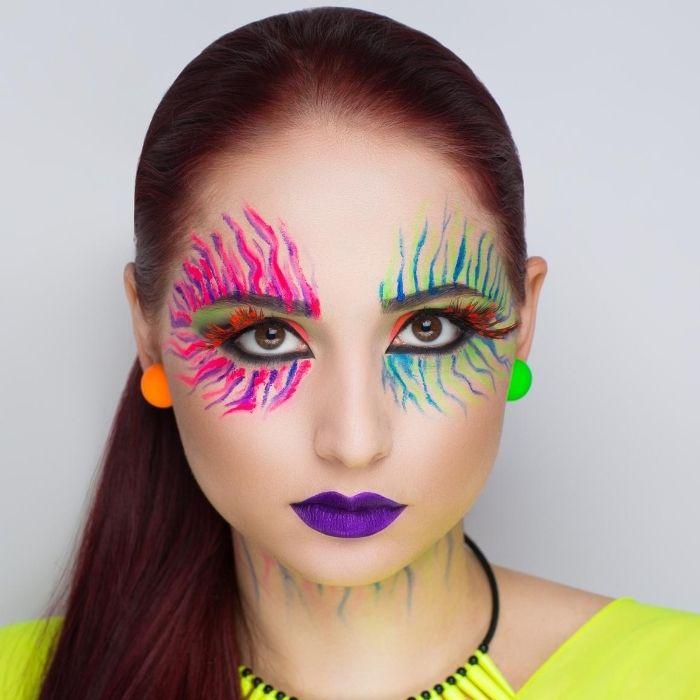 make up neon colorida