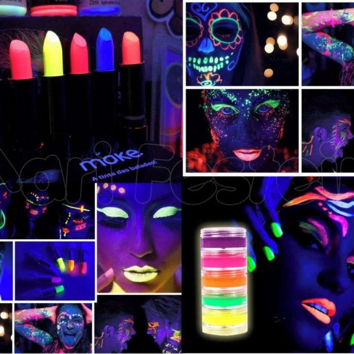 produtos de maquiagem neon