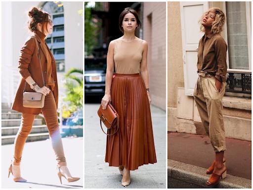 tons de marrom moda outono inverno