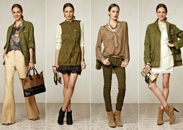 tons de verde para a moda outono inverno