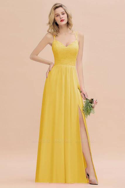 Vestido amarelo de festa