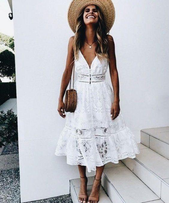 vestido branco boho
