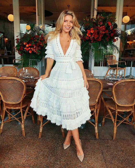 vestido branco estilo boho