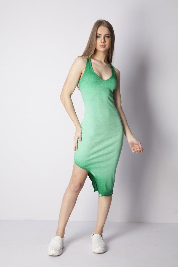 vestido midi assimétrico 2021