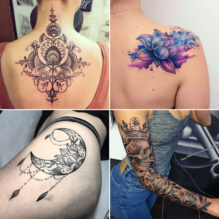 ideias de tatuagens femininas