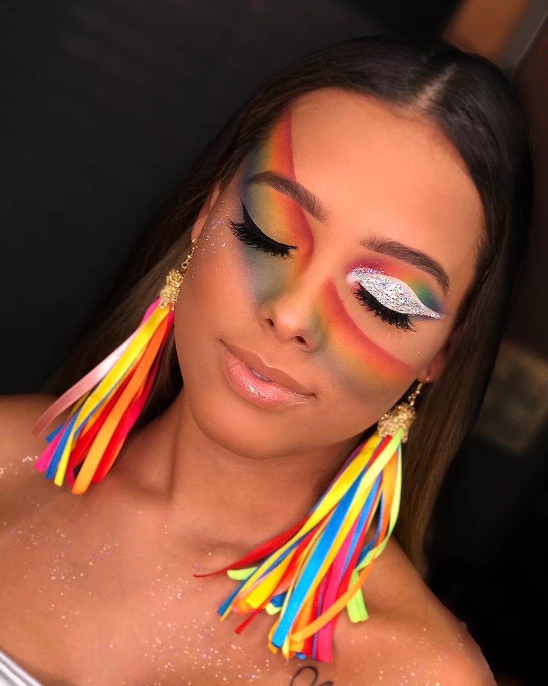 maquiagem arco-íris