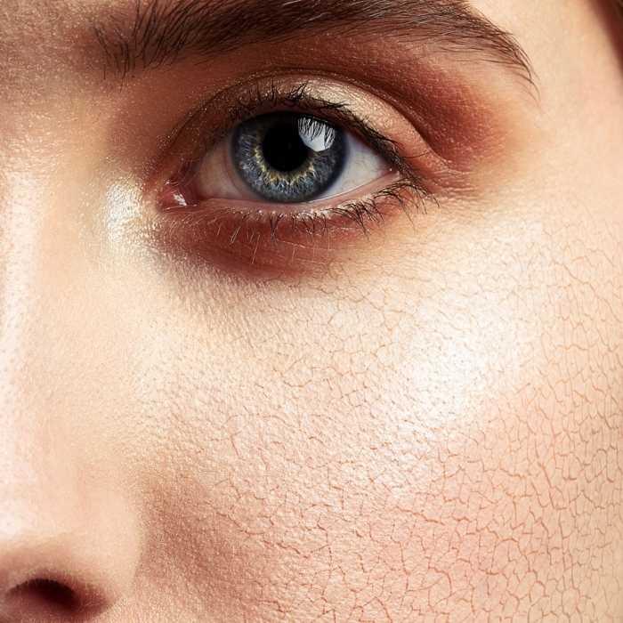 Maquiagem craquelada