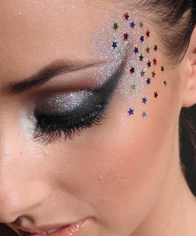 maquiagem para carnaval com glitter